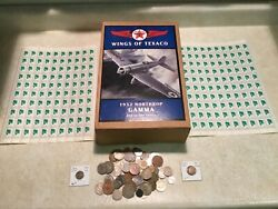Wings Of Texaco1932 Northrop Gamma Plane Bank 200 Stamp1 World Coin Italy 1919