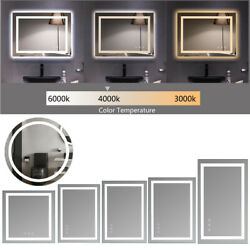 Vanity Bathroom Diming Led Touch Mirror Light Wall Mounted Mirror Antifog Us