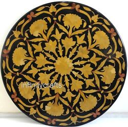 48 Inches Marble Dining Table Top Unique Design Inlaid Hallway Table For Home
