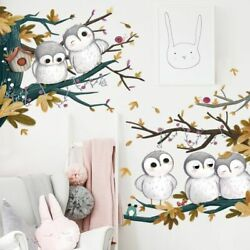 Wall Sticker Cute Owl Family Removable PVC Art DIY Mural Decals Home Decorative