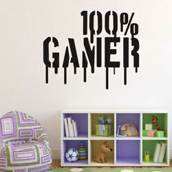 Gamer Vinyl Wall Stickers Kids Game Room Decor Transfer Removable Mural Decals