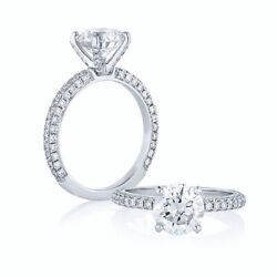 Round Cut 1.17 Ct Real Diamond Engagement Ring Solid 14k White Gold Size 6 7 8 9