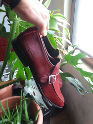 Dsquared 2 Buckle Side Dress Shoes Size 10 . Euro 43 Oversized Cherry Red Pony