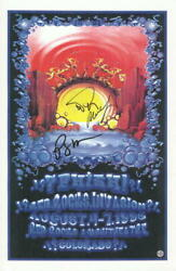 Trey Anastasio, Mike, Page Signed Autograph Red Rocks Concert Phish Tour Poster