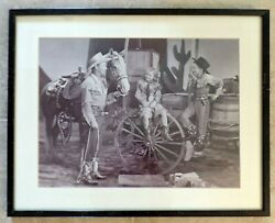 Disney Prop Picture From Melody Time Vintage Roy Rogers And Trigger 20 X 15 Mk