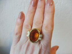 Nice Large Ring Gold Plated Pierre Lang Gr.59 9