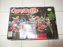 Ogre Battle The March Of The Black Queen Snes Super Nintendo Factory Sealed Wow