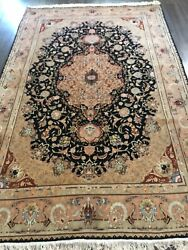 Authentic Hand Made Tbz Silk Foundation Rug 5andrsquo5 Feet By 8andrsquo3