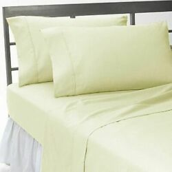 1000 Tc Egyptian Cotton Select Deep Pocket Bedding Items All Sizes Ivory Solid