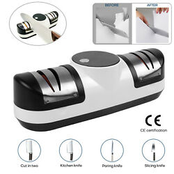 Electric Kitchen Knife Sharpener Rechargeable 3 Stage Sharpening System Tool