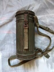 Top Condition Former White Wash Wehrmacht Gas Mask Set Complet All Original Wow