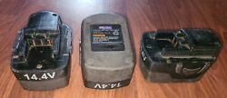Parts Repair Or Rebuild 3x Blue Point 14.4v Cordless Tool Battery Pack Etb14417