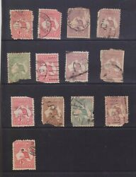 F21-30 1913-36 Mix Of 13stamp Kangaroos 1d To 2/- Space Fillers Ae