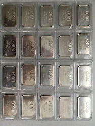 20 X 1 Oz Opm Ohio Precious Metals .9995 Silver Bar From Recycled Sources
