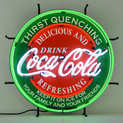 Coca-cola Evergreen Neon Sign 5ccgrn W/ Free Shipping