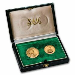 1980 South Africa 2-coin Gold Proof Set 1 Rand And 2 Rand - Sku234033
