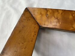 Antique Fits 21 X 27 19th Century Birdseye Curly Maple Veneer Picture Frame