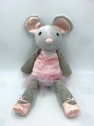 Scentsy Buddy Maddie The Ballerina Mouse Plush Ruby Razz Scent Pack Pink Gray