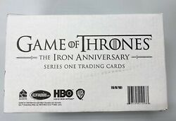 2021 Hbo Game Of Thrones Iron Anniversary Case 10 Box Factory Sealed Qty Avail