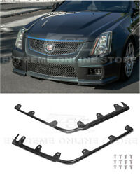 For 09-15 Cadillac Cts-v | Factory Style Carbon Fiber Front Lip Splitter Trim