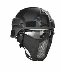 Jadedragon Mich 2000 Style Ach Tactical Helmet With Protect Ear Foldable Doub...