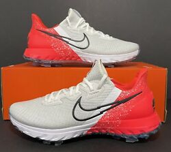 Nike Air Zoom Infinity Tour Golf Shoes Infrared White Ct0540-124 Men Size 10