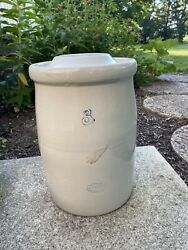 Antique Red Wing Potteries Stoneware 3 Gallon Butter Churn With Lid Pottery
