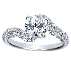 0.90 Ct Round Cut Real Diamond Engagement Ring Solid 14k White Gold Size 5 6 7 8