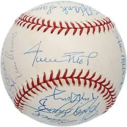 Hall Of Famerand039s Signed Vintage Mays Birthday Baseball And Multiple Sigs - Psa/dna
