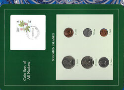 Coin Sets Of All Nations Solomon Islands W/card Unc 1977-1987 210 Cent Fmu
