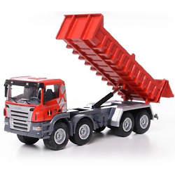 150 Alloy High Simulation Dump Trucks Metal Diecast Pull Back Function Toy