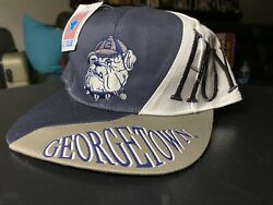 Georgetown Hoyas Snapback Drew Pearson 1992 Deadstock Embroidered Rare College
