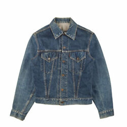 557xx Denim Jacket G Jean 3rd All Yellow Stitching Menand039s 60s Vintage Used