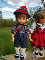 Gotz Frankenmuth Collectable Boy Doll W/ Stand. Custom Outfit. Open/close Eyes.