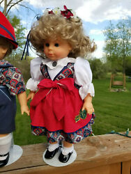 Gotz Frankenmuth Collectable Girl Doll W/stand. Custom Outfit. Open/close Eyes.