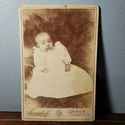 1886-96 Cabinet Card Portrait Photo Infant Baby Margaret Lick From Lancaster Pa