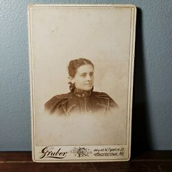 1886-96 Cabinet Card Portrait Photo Of Josephine Kiracofe From Hagerstown Md