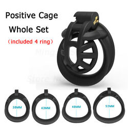 Mamba Positive/negative Male Chastity Cage Device 3d Cobra Double-arc Ring New