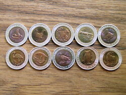 Rare Limited Russian Coins From The Red Book Series 1991-1993. Animals Of Russia