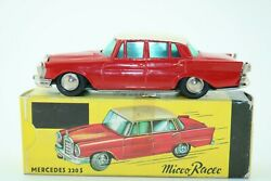 Schuco Micro Racer No 1038 Mercedes 220s - Made In West Germany - Boxed