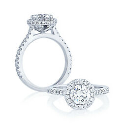 Round Cut 1.20 Ct Real Diamond Engagement Ring Solid 14k White Gold Size 5 6 7 8