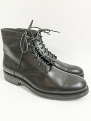 Wolverine Blvd Black Leather Cap Toe Ankle Boots Sz 8.5 D Used Once