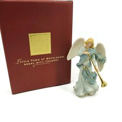 Lenox Little Town Of Bethlehem Angel With Trumpet Figurine For The Holidays