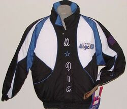 Vintage 90s Orlando Magic Proplayer Jacket Backpatch Crinkle New Old Stock Last1