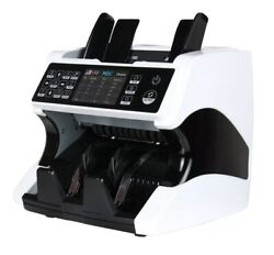 Mixed Denomination Bill Money Counter Multi Currency Counterfeit Detector Detect