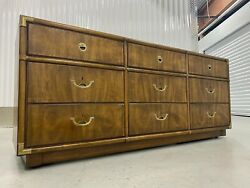 Drexel Heritage Accolade Campaign Style Brass Dresser