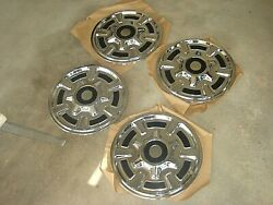 Vintage 4 Oem Dodge Chrysler Plymouth Ford Chevrolet 15 Hubcaps Wheel Covers