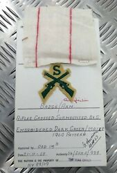 Genuine Vintage British Army Inspectorate Of Stores And Clothing Sample Card 1963