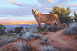 Edward Aldrich His Territory Giclee On Canvas Signed And Numbered