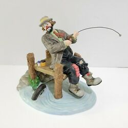 Emmett Kelly Jr. Flambro Clown Limited Edition Figurine Catch Of The Day